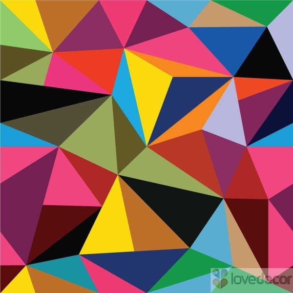 Abstract Geometric Patterns Triangles