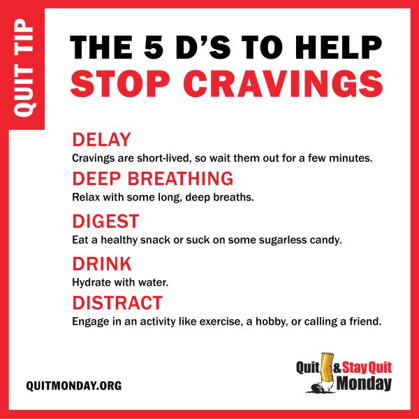 5 ' Stop Cravings Smoking Cessation