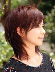 asian girl with shoulder length