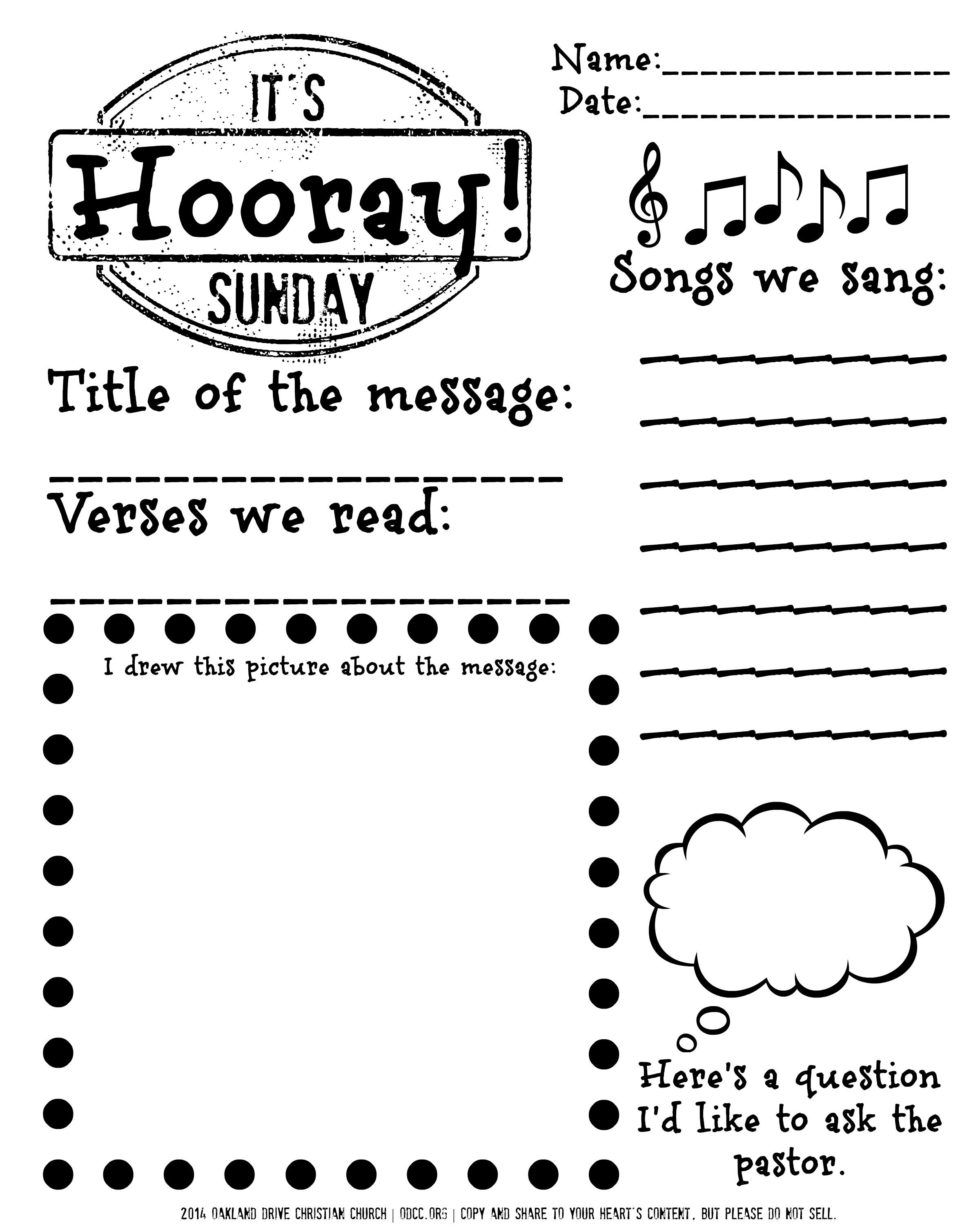 Free Printable For Children Sitting Through The Worship Service Gives Them A Reason To Follow