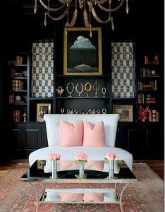 love the freshness of pale pink and black home decor interior design decorating also inspirational homes porn pinterest living rooms rh