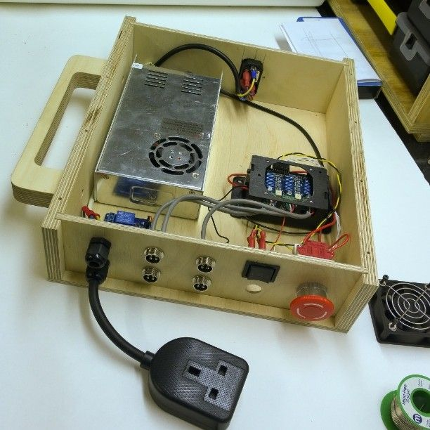 Control box is taking shape. #CNC #GRBL #Arduino #Relay by savvas_papasavva | Insta #Arduino | Pinterest | CNC. Arduino and Box