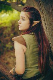 casual wood elf hairstyle viking
