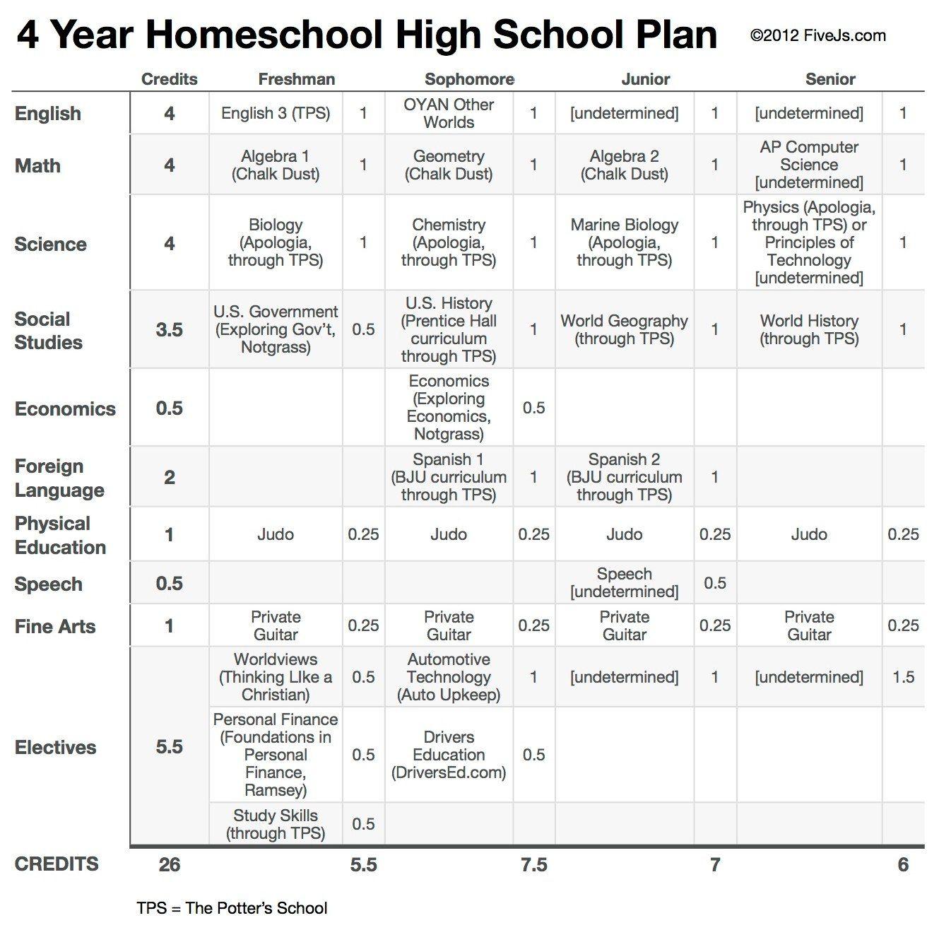 Our 10th Grade Homeschool High School Curriculum Plan