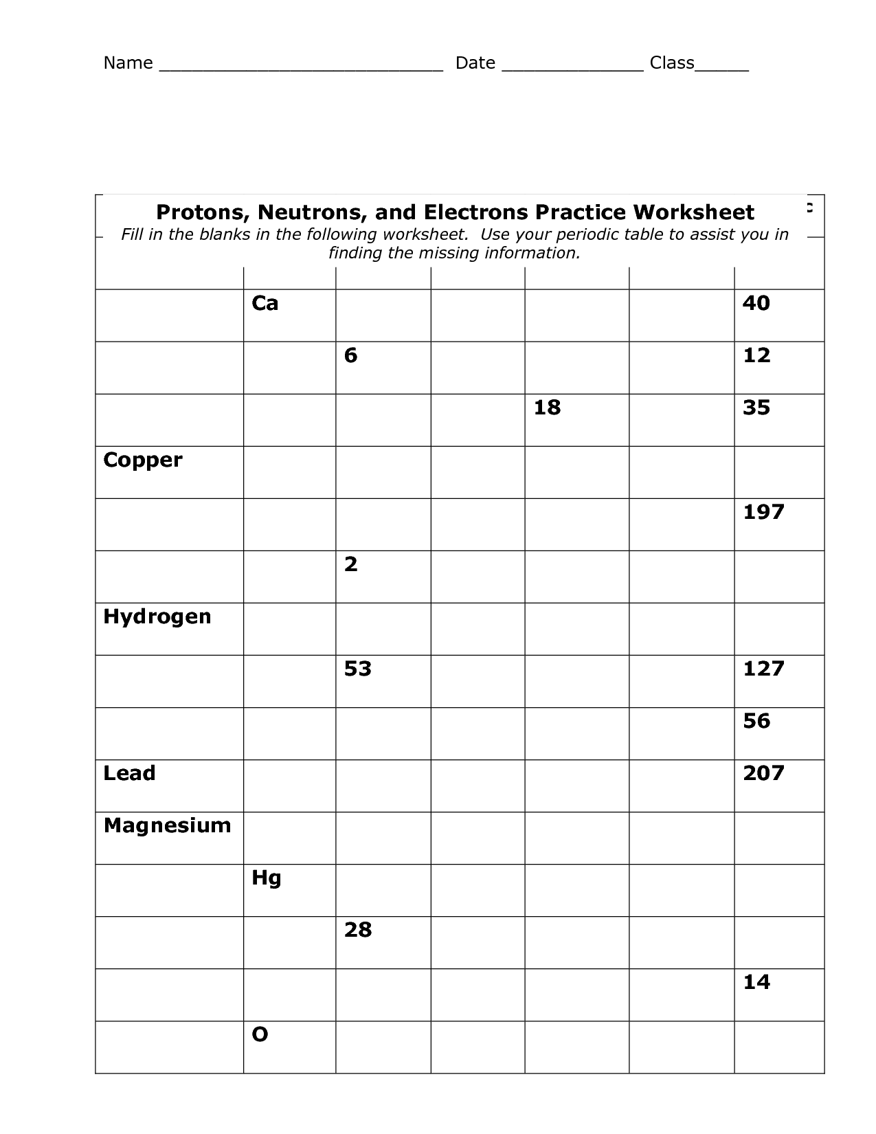 33 Periodic Table Worksheet Chemistry Hd Printable
