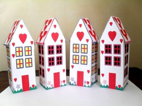 Heart Houses For Valentine's Day Free Printable Printable