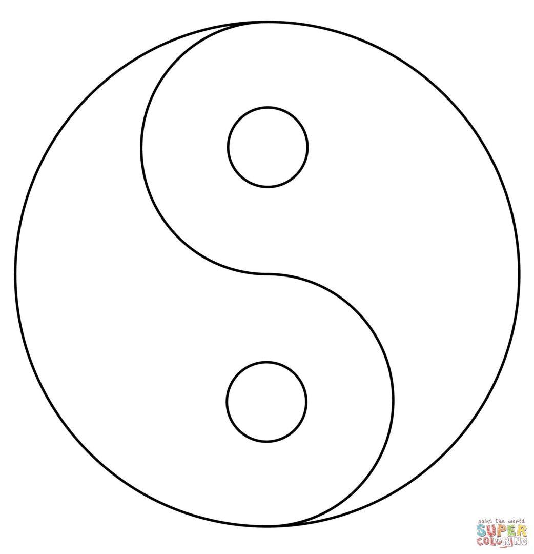 Ausmalbild Yin Und Yang