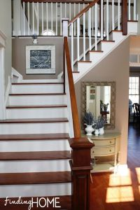 The Evolution of our Stairs and Entry | White trim ...