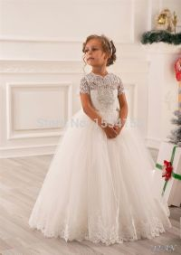Hot Sale White Ivory Lace First Communion Dresses For ...