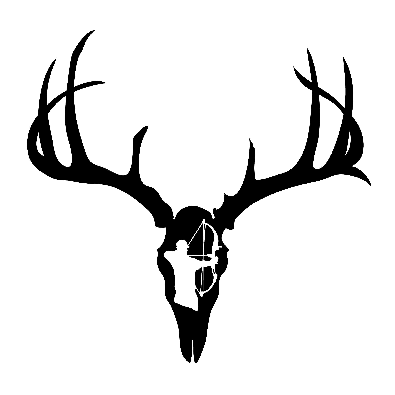Deer Skull Decal
