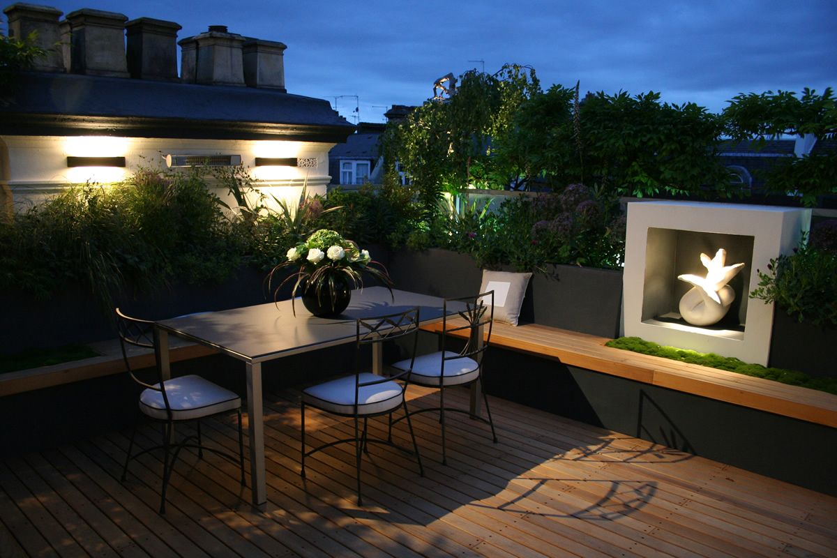 Small Roof Garden Design Ideas Rooftop Living Spaces Pinterest