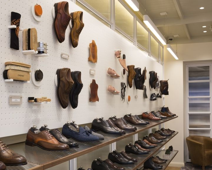 Joseph Cheaney flagship store by Checkland Kindleysides London  retail design  Pinterest