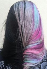 dyed fishtail braided hair