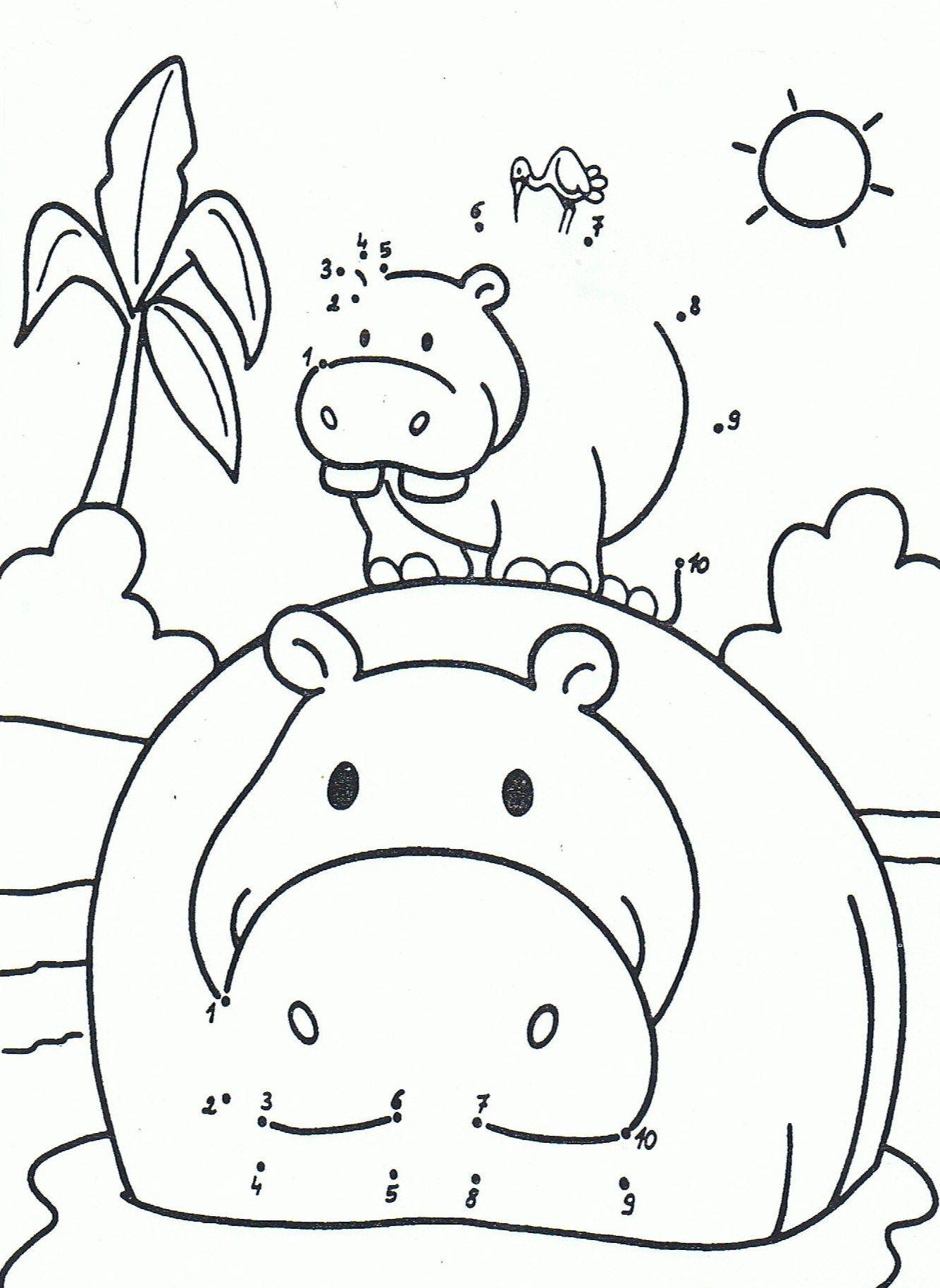 Kleurplaat Van Een Nijlpaard 1 10
