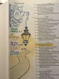 Your word is a lamp to my feet and a light to my path ...