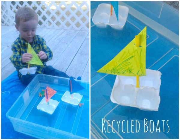 Warm Weather Activity Toddlers Kids Simple Boats