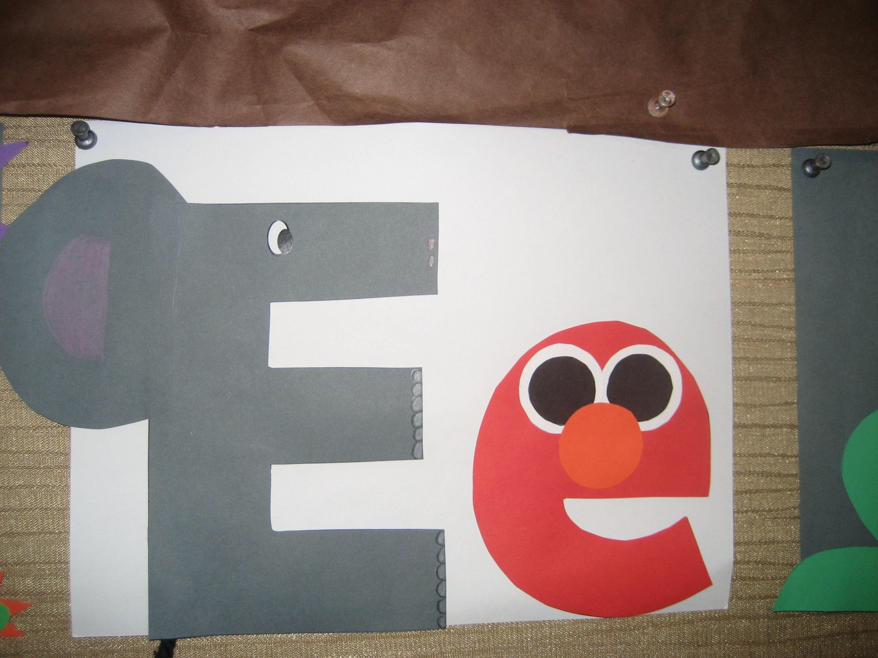 Ee Letter Of The Week Art Project Elephant Amp Elmo