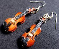 Violin Earrings with Box Miniblings 2 Violins Music by ...
