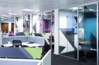 Printed window graphics for office interiors and ...