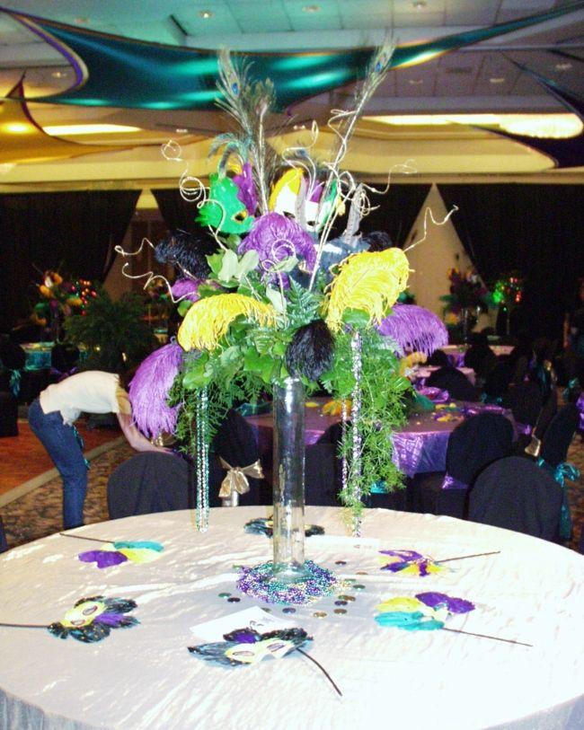 mardi gras themed wedding  Mardi Gras  Wedding  Pinterest  Mardi gras Wedding and Centerpieces