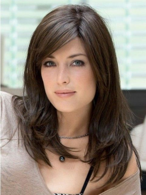 Medium To Long Hairstyles For Oval Faces My Style Pinterest