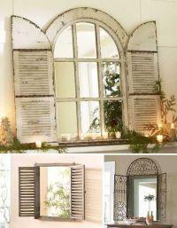 Vintage Window Shutter Decor