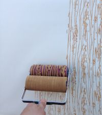 images of rough wood painted walls | ... paint-roller-in ...