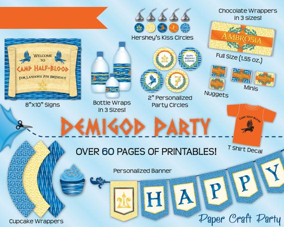 Demigod Percy Jackson Inspired Birthday Party DIY