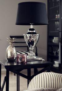Sleek & sophisticated...silver & black table lamp ...