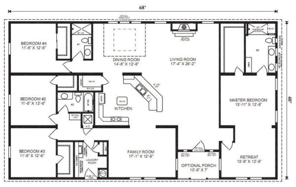 Amazing Simple 4 Bedroom Ranch House Plans Bedroom Style Ideas Inspirational Interior Design Netriciaus