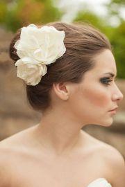 bridal silk flowers wedding hair