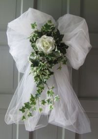 Wedding Decorations Rose Ivy Tulle Bows Pews Doors Chairs ...