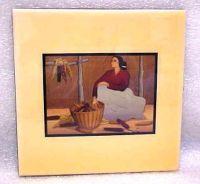 "R.C. Gorman Ceramic Decorative Tile ""Sacred Corn"" #2967 ..."