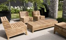 Rustic Wood Outdoor Patio Furniture And