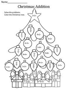 Christmas: Addition This Christmas addition worksheet is