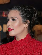 kim kardashian's braided updo