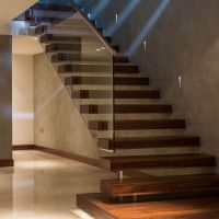canal floating contemporary staircase | swetha home ...
