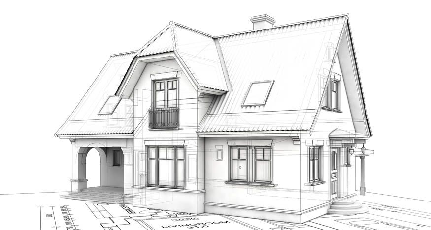 Sketch House HOUSES AND GARDENS Pinterest House Drawing