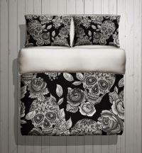 Sugar Skull Bedding - ANY COLOR Mega Print with Large ...