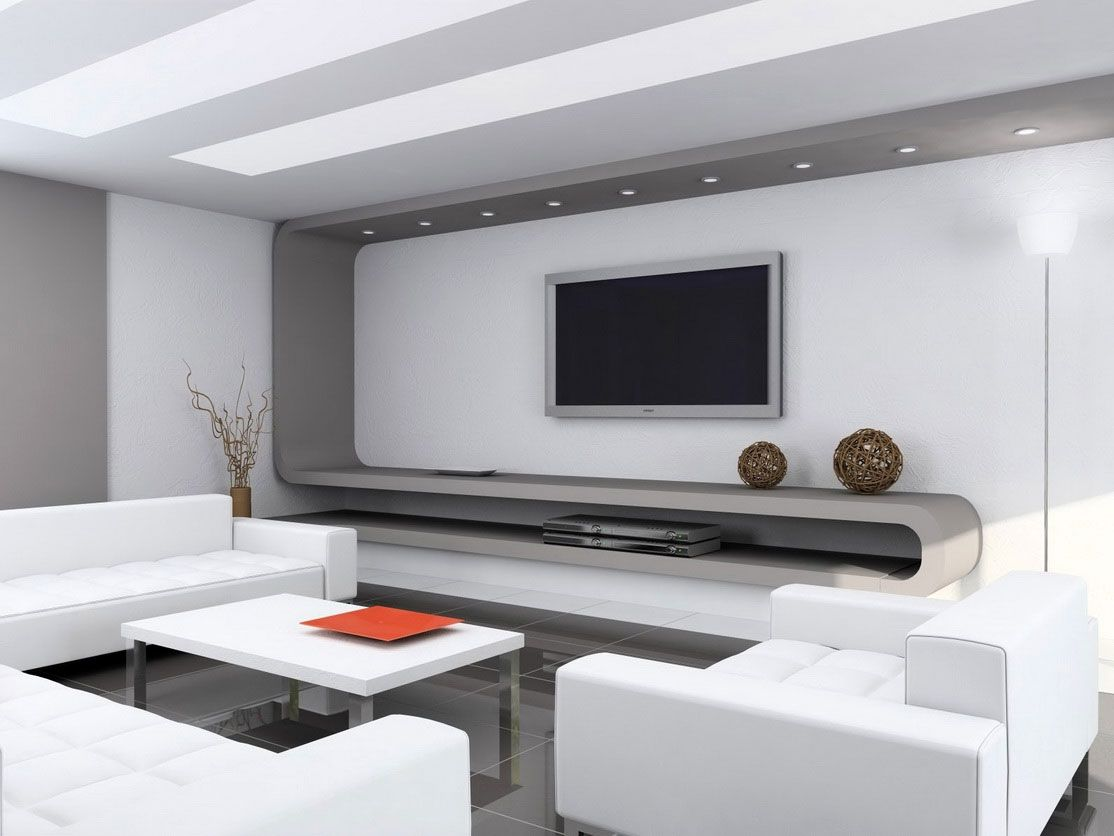 Modern Living Rooms And Technology For It Wall Accents Living