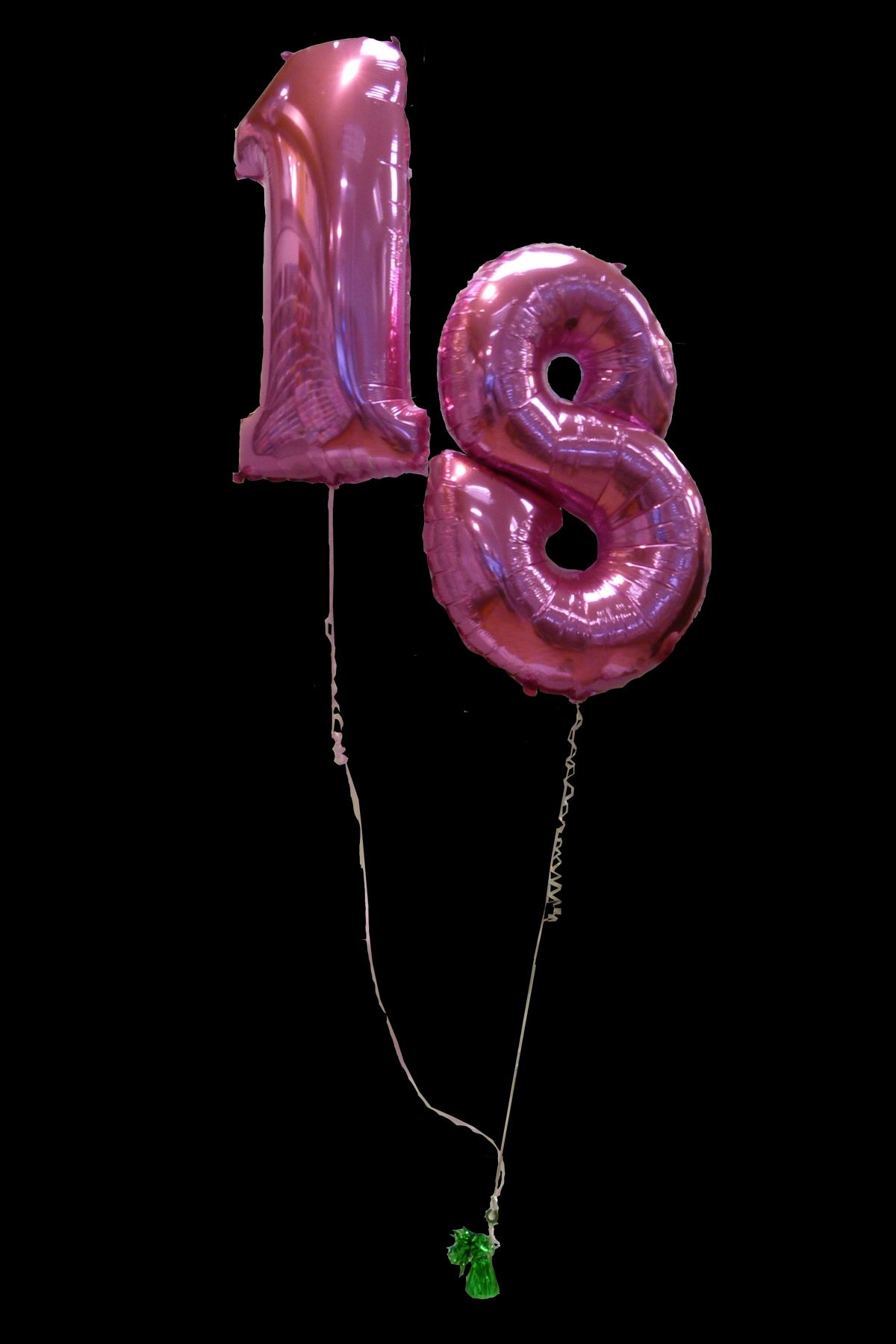 Pink Number 18 Balloons Perfect For Decorating At An 18th