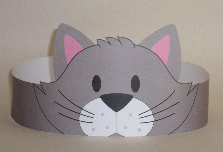 Cat Gray Crown Printable Van Putacrownonit Op Etsy
