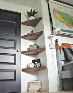 Diy floating corner shelves shelf and also rh in pinterest