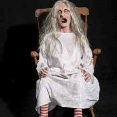 Grandma Rocking Chair Target Patio Chairs Creepy Granny In - Animated / Mechanical Halloween Prop | Props ...
