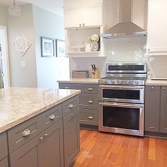 Gray Cabinets Kitchen Mixers Cambria Quartz Berwyn Two Tone And White