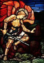 Resultado de imagen para san miguel arcangel vitral