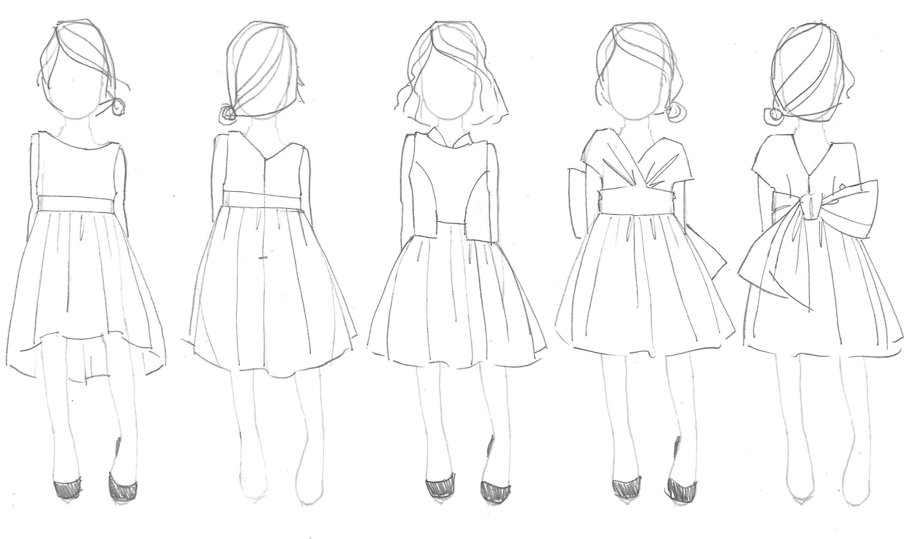 Kids Fashion Illustration Figures
