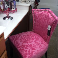 Pink Vanity Chair Plastic Chairs With Steel Legs My I Bought At Home Goods For Cute