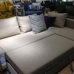 Friheten Corner Sofa Bed Skiftebo Beige Side Table Design Ikea Showroom 699 Cdn
