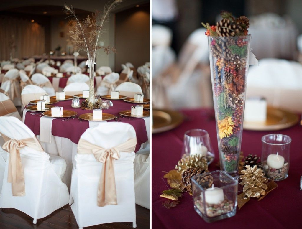 burgundy  gold wedding colors  A Burgundy Gold and Ivory Wedding  Pinterest  Gold wedding